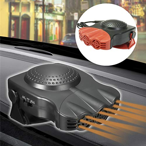 WINOMO Pequeño ventilador de escritorio portátil de 12 V para coche, aire acondicionado, calefacción, calentador para vehículos todoterreno