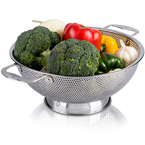 LiveFresh Stainless Steel Micro-Perforated 5-Quart Colander