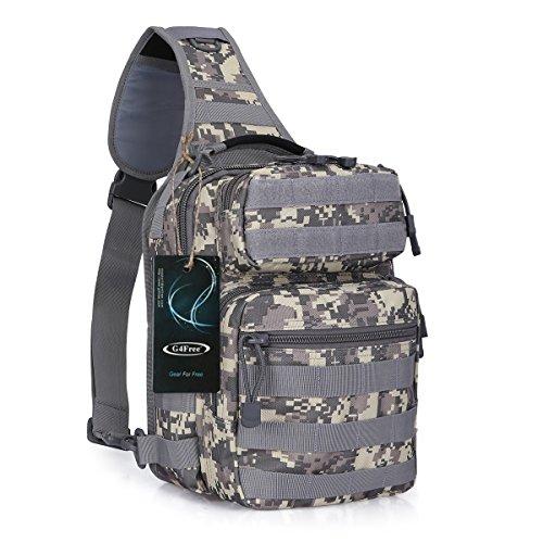 G4Free Outdoor Leichte Taktische Sling Rucksack Military Sport Daypack Assault Kleine Schulter Ein Strap Sling Molle Brusttasche für Camping Wandern Trekking