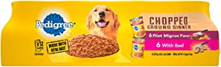 PEDIGREE Chopped Ground Dinner Wet Dog Food, Variety Packs