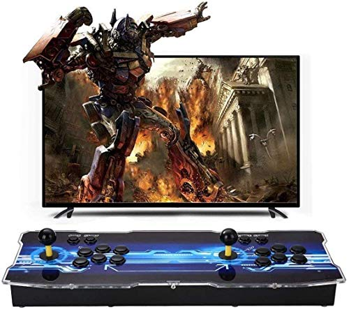 SeeKool 3D Pandora X Arcade Game Console, Joystick 2 Giocatori Arcade Console con 2650 Giochi, 1920x1080 Full HD, Supporto esteso Scheda TF e Disco USB, per PC / Laptop / TV / PS3