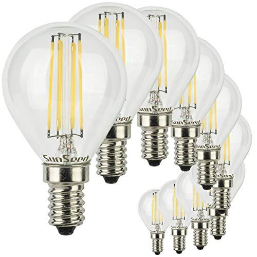 SunSeed® 10x Glühfaden LED Golfball-Lampe E14 5W ersetzt 50W Neutralweiß 4000K
