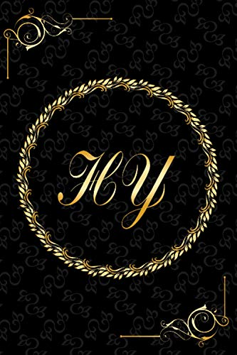 HY: Golden Monogrammed Letters, Executive Personalized Journal With Two Letters Initials, Designer Professional Cover, Perfect Unique Gift