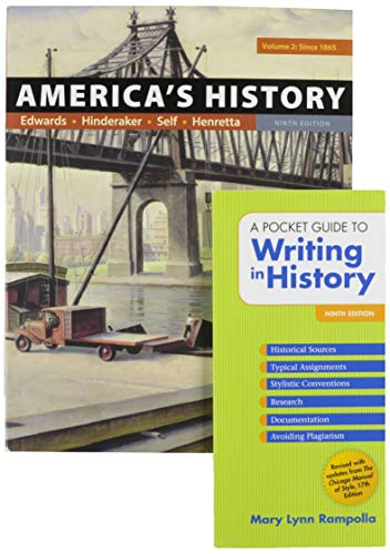 America's History, Volume 2 9e & A Pocket Guide to Writing in History 9e
