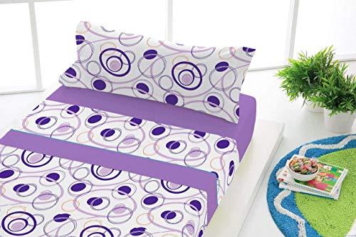 Sabanalia flanellsängkläder dans (finns i olika storlekar och färger) säng med 160 cm bred lila