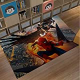 xuejing Tapis Chambre d'enfants Tatami Chevet Baie Vitrée Salon Étude Balcon Rectangle Maison Ramper Tapis Marvel Dessin Animé Anime Spiderman