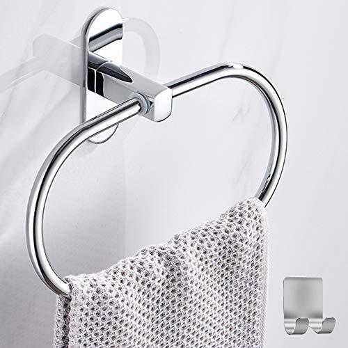 Handtuchring ohne Bohren, Handtuchhalter Rund, Edelstahl handtuchhalter Bad,Patentierter Kleber,handtuchhalter selbstklebend, Selbstklebend Handtuchhaken