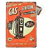 Grand Teint Plaque Métallique Vintage 20x30cm Poster En Métal Mural Plaque Décorative pour Garage Motel (GAS Station)