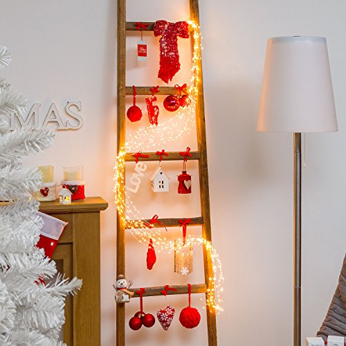Ramo de luces 2,2 m, 600 MicroLED luz cálida, cableado metálico, luces de Navidad, decoración navideñas, iluminación de eventos