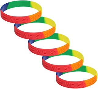 Equality/Rainbow Awareness Silicone Bracelet 5 Pack