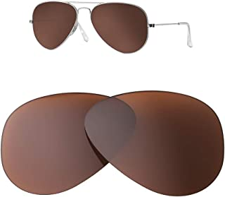 HEYDEFOAU Polarized Lenses for Ray-Ban Aviator RB3025 (58MM) Sunglasses - 10 Colors