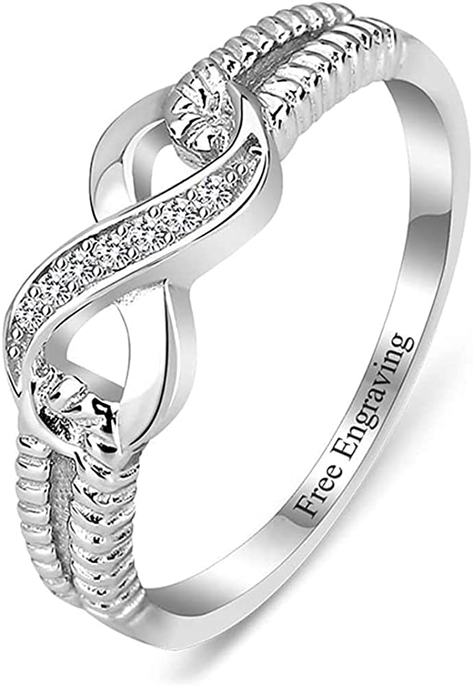 Personalized Infinity Friendship Popular products Free Shipping New Ring for Cubic Women Customized