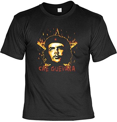 Revolution T-Shirt Che Guevara mit Flammenstern (Größe: XL) in schwarz