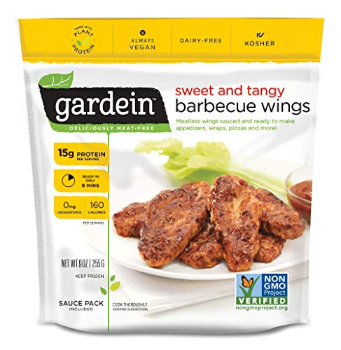 Gardein Sweet & Tangy Barbecue Plant-Based Wings, Vegan, Frozen, 9 oz.