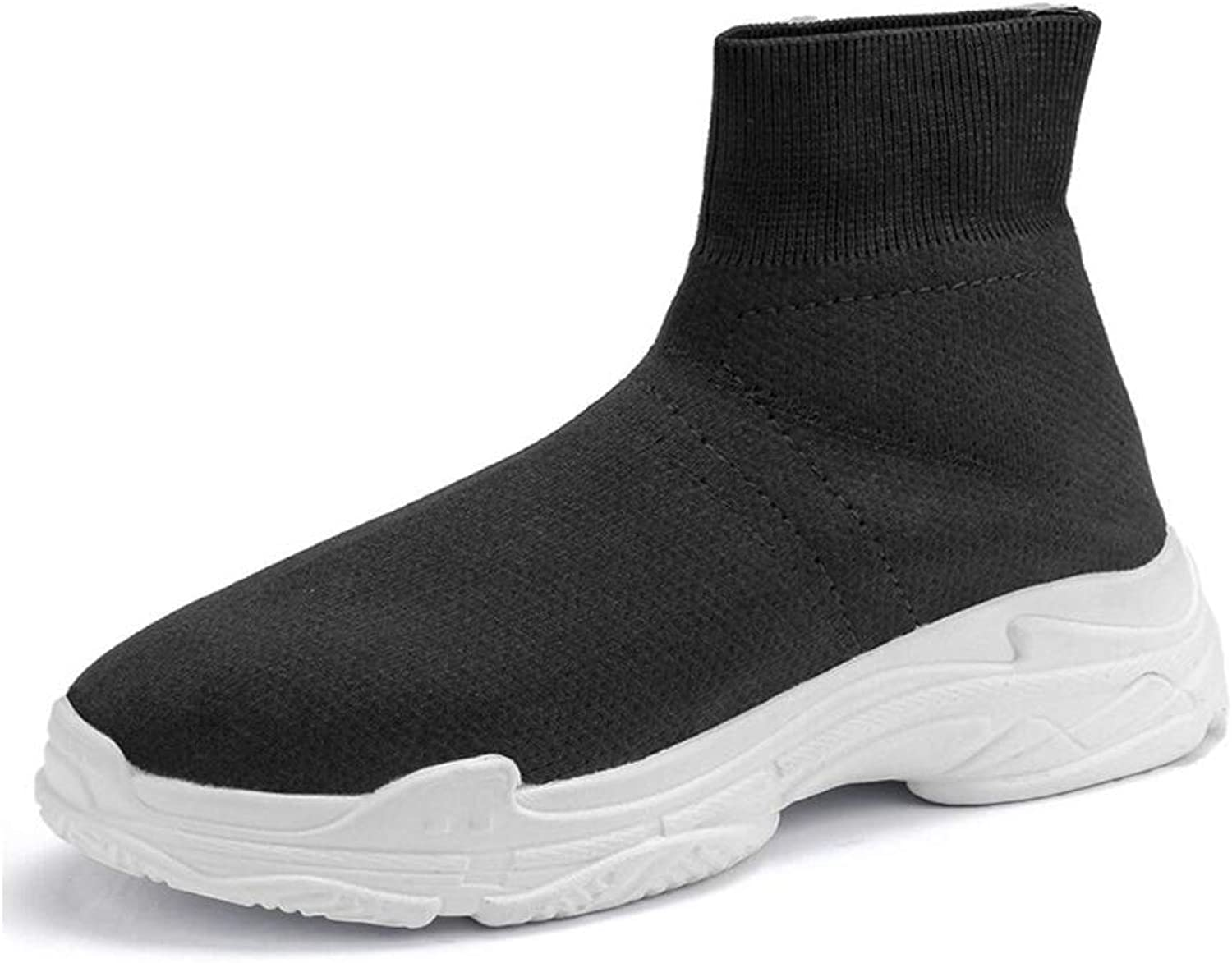 Men's Running Lightweight Breathable Casual Sports shoes Fashion Sneakers Walking shoes Cotton shoes Warm Fly Woven Stretch Socks shoes