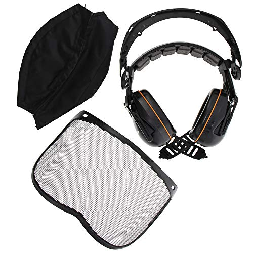 Husqvarna 505665358 Mesh vizier met hoofdband gehoorbescherming NIEUW
