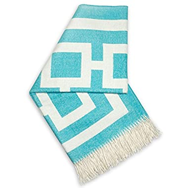 Jonathan Adler Richard Nixon Throw, Blue/Natural