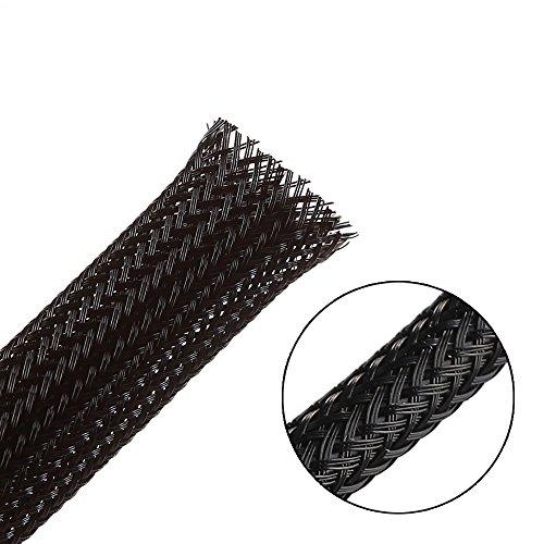 7.5m -10mm PET erweiterbar geflochten kabelschlauch kabelstrumpf kabelschutz kabelmantel –schwarz –Alex Tech kabel sleeve