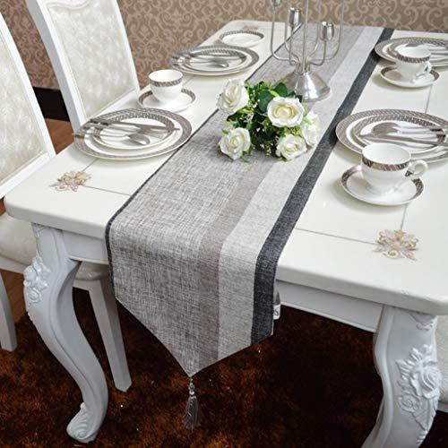 I will take action now Moderne, handgefertigte Chenille-Baumwoll- und Leinen-Kunstdekoration, handgenähte Tischdecke, geeignet für Hochzeitsfeiern