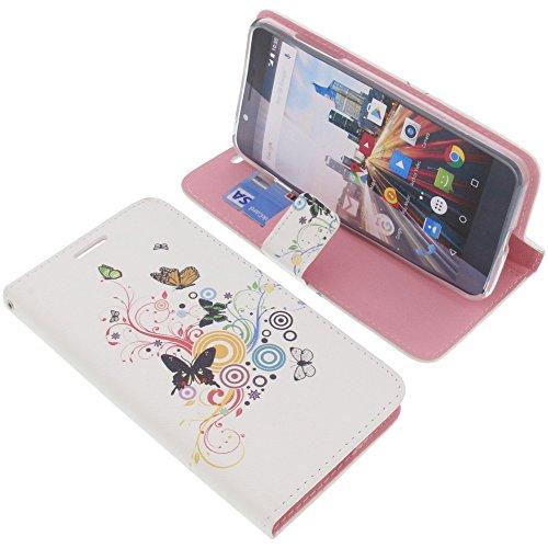 foto-kontor Tasche für Archos 55 Helium Ultra Book Style Schmetterlinge Schutz Hülle Buch