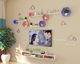 Strong Sturdy Wall Frame Hanging Creative Lattice TV Background Wall Decoration Living Room Wall Partition Storage Rack Sh...
