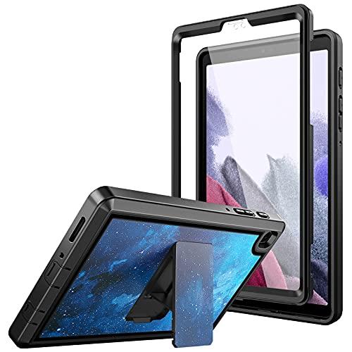 Dadanism Funda Compatible con Samsung Galaxy Tab A7 Lite 8,7 Pulgada 2021 (SM-T220/T225/T227), Protector Completa de PC a Prueba de Golpes con Soporte Doble Ángulos Trasera Dura, Azul + Negro