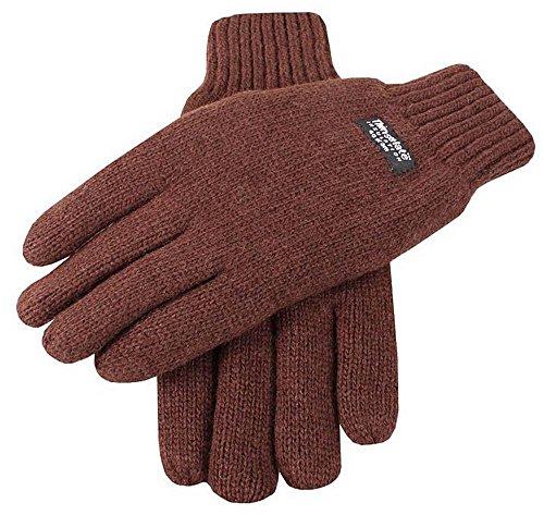 Dents Chocolat gants tricotés lisses - Médium de