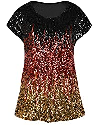 Black/Red/Gold Loose Bat Sleeve Party Tunic Tops