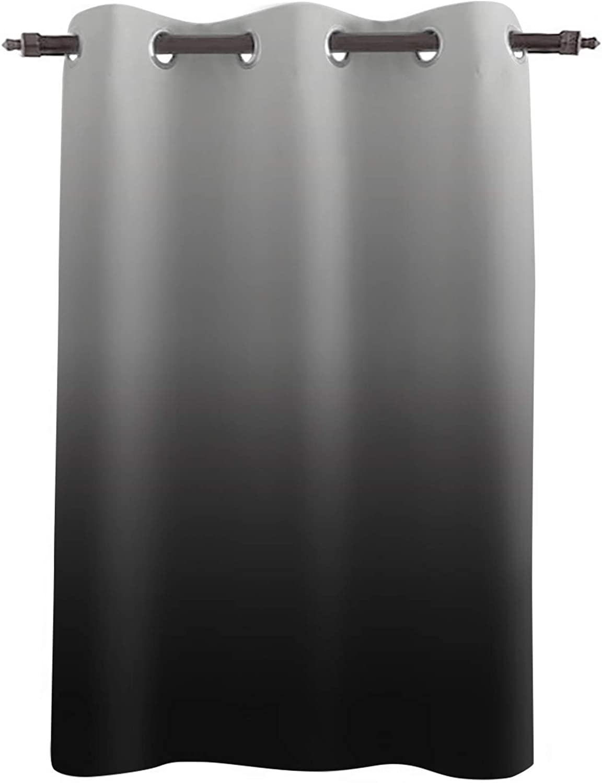 SunShine 公式サイト Day Blackout Curtains 45Inches Long Grey Black Gradien 売れ筋