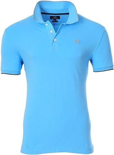 La Martina Plain Polo Shirt Bleu Clair