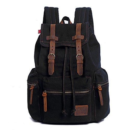 YuHan Canvas Backpack Unisex Vintage Casual Rucksack Laptop Daypacks MacBook Bag Schoolbag...