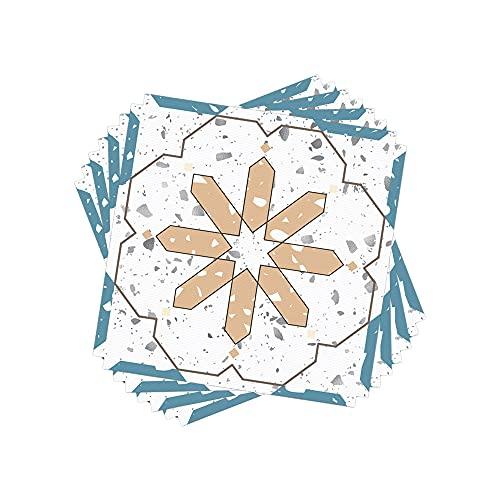 ZSFBIAO Adhesivo de vinilo en azulejos para pegar y pegar en la pared, para baño, dormitorio, granja o cocina (tamaño: 30 cm x 30 cm x 4 piezas, color: 2 juegos)