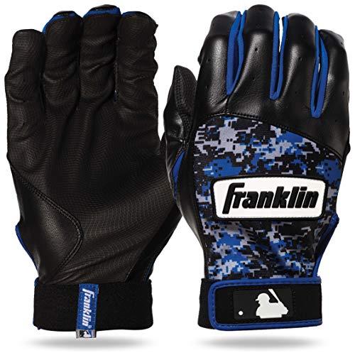 Franklin Sports MLB Digitek Baseball Batting Gloves - Gray/Black/Royal Digi- Adult Large