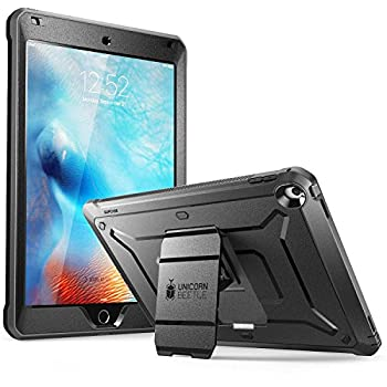 SUPCASE Unicorn Beetle Pro Series Case Designed for iPad 9.7 2018/2017 with Built-in Screen Protector & Dual Layer Full Body Rugged Protective Case for iPad 9.7 5th / 6th Generation Black