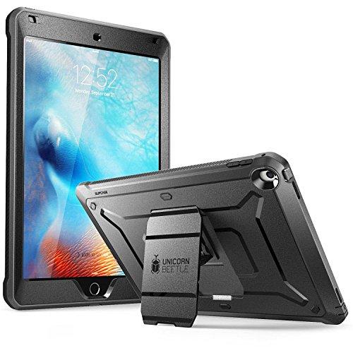 SUPCASE iPad 9.7 2018/2017 Hülle Bumper Hülle 360 Grad Schutzhülle Robust Cover [Unicorn Beetle PRO] mit integriertem Bildschirmschutz für iPad 9.7 Zoll 5th / 6th Generation, Schwarz