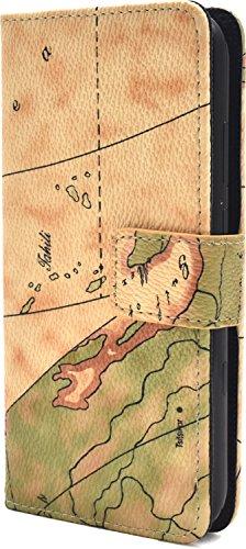 PLATA AQUOS SERIE mini SHV38 / AQUOS Xx3 mini ケース 手帳型 地図柄 ワールド ポーチ 【 01 】 ASHV38-53-01