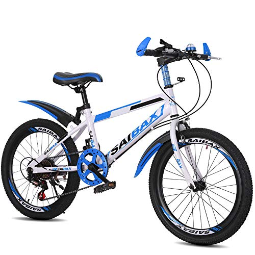 FLYFO Mountain Bike, Bici da Studente in Acciaio al Carbonio da 20/22 Pollici, Scooter A 7 velocità per Bambini, Ciclismo All'aperto, Mountain Bike, MTB,Biciclo,1,22inches