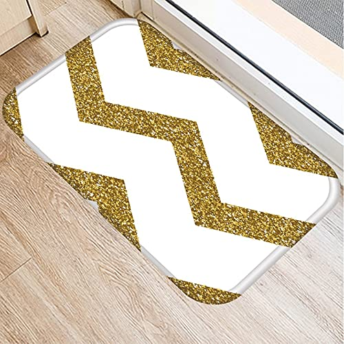 OPLJ Pink Geometric Feather Pattern Door Mat Kitchen Entrance Door Mat Carpet Color Indoor Floor Mat Anti-slip Carpet A5 40x60cm