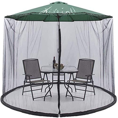 MIEMIE Écran de Table de Parasol de Couverture de Moustique de Jardin en Plein air avec la Couverture d'insecte de Filet de Maille de Filet d'insecte d'insecte de Tirette
