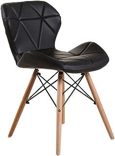 Decoración de muebles Sillas de comedor Silla de comedor de estilo moderno Mid Century para cocina Sillas auxiliares de sala de estar Juego de 4 sillas de restaurante (Color: Rojo Tamaño: 49x40x72c