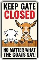 レトロおかしい金属錫サイン8 x 12インチ(20 * 30 cm)ヤギブリキ看板警告通知パブクラブカフェホームレストラン壁の装飾アートサインポスター(hs-1-33)