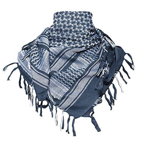 MAGNIVIT Cotton Keffiyeh Tactical Desert Scarf Wrap Shemagh Head Neck Arab Scarf Blue