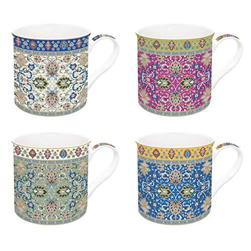 JD Diffusion 179PERR Art Around the World Coffret de 4 Mugs Multicolore