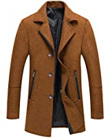 Men's Winter Wool Trench Blend...