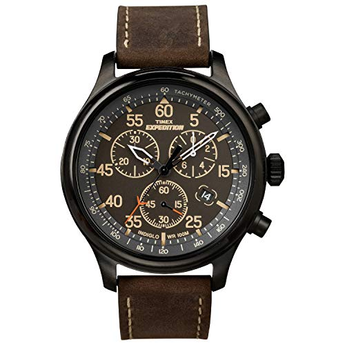 Timex Men's Pay Quartz Leather Strap, Brown, 20 Casual Watch (Model: TW4B19200)