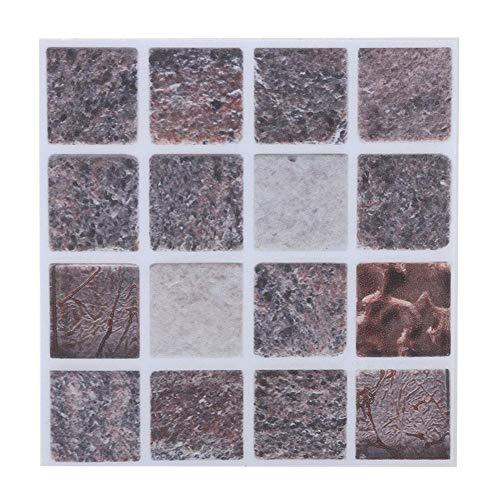 BHDD Pegatinas de Estilo Mosaico para baño, Pegatina de Azulejos Impermeable Reutilizable, Pegatina de PVC Impermeable, Pegatina autoadhesiva para Cocina, decoración del(MTS010)