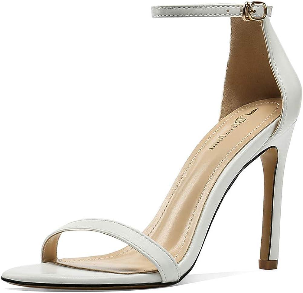 kekafu Women's Stiletto Clearance SALE! Limited time! Ankle Long-awaited Strap Dress Heel Evening Pump Sand