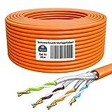 HB-DIGITAL 25m Cable de red cat.7A Cable LAN AWG 23/1 cable naranja cat 7 cobre profesional S/FTP PIMF LSZH libre de halógenos RoHS compliant Cat7a cat.7 a Cable de datos Ethernet 10 Gbit 1000 MHz