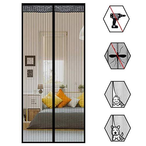 Magnet Fliegengitter Tür Insektenschutz, Insektenschutz Magnet Fliegenvorhang, Auto Schließen, magnetische Adsorption, Luft kann frei strömen, für Türen/Patio