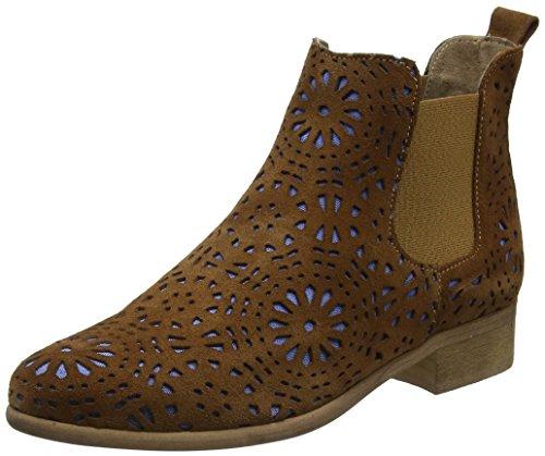 BUNKER Damen Zola Chelsea Boots, Braun (Tabac 487), 40 EU